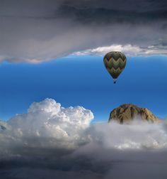 a hot air ballon ride