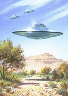 UFO: UFO over a canyon