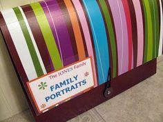 storing leftover school/family photos