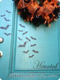 Vinyl bats for front door