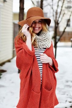 Cool Long Sweater With Cool Hat