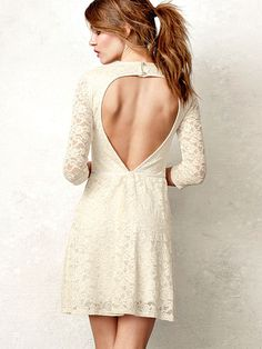 With all of these pretty little date dresses I keep pinning, we will have to have more date nights! :) VS Open-back Dress The Lace Collection