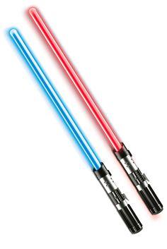 Espada Sable Láser híbrido Star Wars. Anakin Skywalker y Darth Vader con luz y sonido
