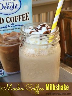 Love this Mocha Coffee Milkshake made with International Delight! #IDelight #ad