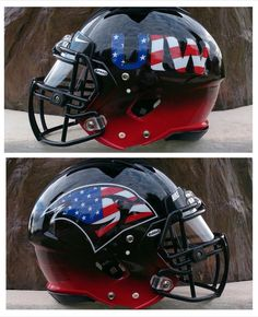 Check out the new alternate helmet the University of the Incarnate Word football program unveiled for their military appreciation helmet last night.  Look great, play great!   #FootballHelmetDecals #FootballDecals #MilitaryAppreciation #StarsAndStripes #America #HelmetDecals #HelmetSwag #UniSwag #HealyAwards