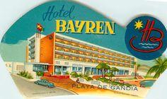 Hotel Bayren PLAYA de Gandia Spain hace ya unos años