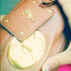 Emma Fox leather clutch