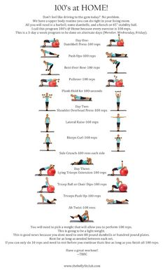 100s Upper Body At Home Challenge