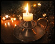 Lovely holiday candle light.
