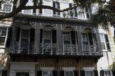 Old House wrought iron balcony Charleston by Da Qi