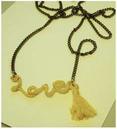 Anthro Knock-Off Love Necklace | www.zucchiniandco.com