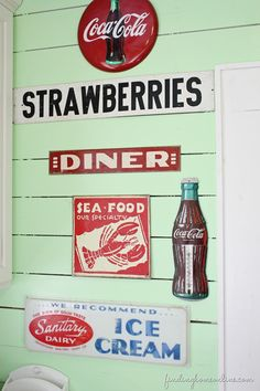 Four Lessons for Decorating a Beach House - Fun Vintage Sign Collection