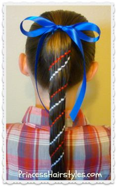 Red, White, and Blue, Waterfall Twist Carousel Braid (Aztec Braid) Perfect for the #4thofjuly