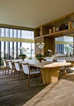 capacious dining room
