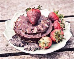 Raw Chocolate Pudding Pie with Raw Chocolate Shell