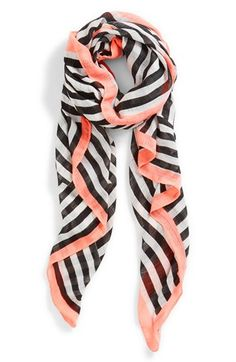 pair this scarf with a plain black tee, peachy blush and gold cuff for an ultra chic casual look