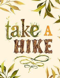 Hike #typography #handlettering