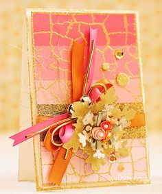 Tropical color scheme for a Winter card! @scrapbookadhesivesby3l @WOW @Spellbinders