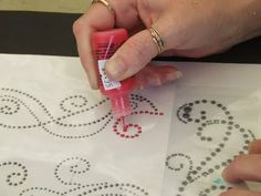 Use fabric paint dots, puffy paints or glitter instead of rhinestones with Silhouette Rhinestone patterns!  :)