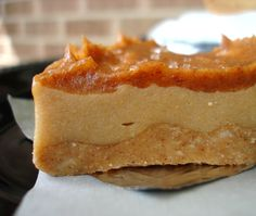 Paleo Caramel Cheesecake Bars (minus the cheese) - remove the honey replace with small amounts of stevia and this will be the best low carb dessert!