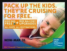 "#Blog Update: It's family +Cruise planning time! Time is running out to take advantage of 2 fantastic ""Kids Sail Free"" offers from +NorwegianCruise Line AND +RoyalCaribbean International ~ #TLCTravels' Tours & Cruises !! #Plan2Travel #TotalNonStopTravel"