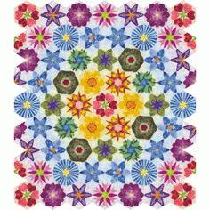 Grandma's Flower Garden Quilt Pattern