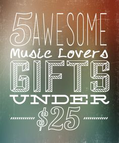 Great gift ideas...5 Awesome Music Lovers Gifts  #music