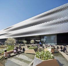 hufton, exhibitions, herzog de, architectur, facad, mess basel2, de meuron, extensions, crows
