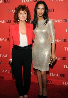 NEW YORK, NY - APRIL 29: Susan Sarandon and Padma Lakshmi attend the TIME 100 Gala, TIME's 100 most influential people in the world at Jazz at Lincoln Center on April 29, 2014 in New York City. (Photo by Kevin Mazur/Getty Images for TIME)