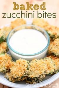 Six Sisters Baked Zucchini Bites Recipe are  a healthier snack option!