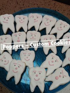 Decorated cookies, should make these for my dental office