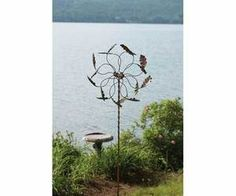 Oak Leaf Wind Spinner Kinetic Spinners WindSpinner Garden & Yard Sculpture