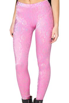 Wallpaper Princess Pink Leggings - LIMITED by Black Milk Clothing $80AUD