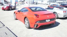 new Ferrari California next to the old one