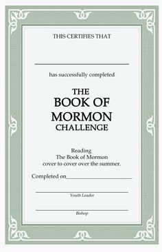 Book of Mormon Challenge