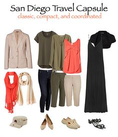Travel Capsule Wardrobe for San Diego Working Vacation