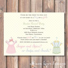 babykid idea, parti invitationsem, gender reveal parties, emgend reveal, party invitations, babi stuff, parti idea, blues, vintage style