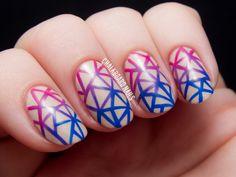 Geometric gradient facets by @chalkboardnails