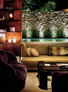 Contemporary Living Room by Stephen Shadley in Beverly Hills, California