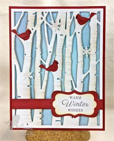 christma card, stamp, taylor express, tree accessori, birch tree, white christmas, accessories, cut outs, paper crafts