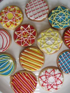 Geometric shape biscuits