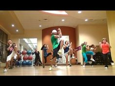 "▶ Slinky Dance Fitness - ""Rock the Boat"" by Bob Sinclar - 2nd Warm-Up - EASY - HI-energy - YouTube"