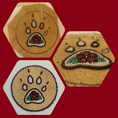 Work in progress. Barrette with wolf paw design by Brenda Mahan 10/15/14