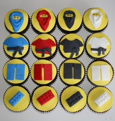 Ninjago cupcakes! Wow, if only I could make these.