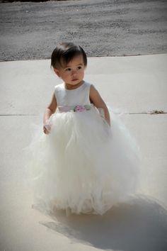 DIY tutu flower girl dress.