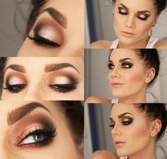 Peachy Bronze Smokey Eye