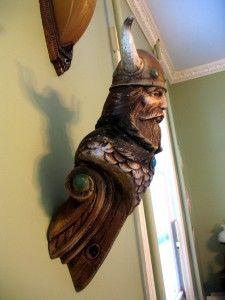 "Viking figureheads | Vintage Viking SHIP Figurehead Nautical Decor Wall Display 22"" | eBay"