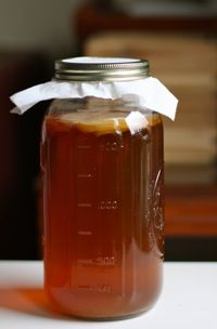 Kombucha! Here's the how to make it yourself. Please spread this love drink around! Benefits:Probiotics, balances internal pH,detoxify the liver   Increase metabolism, Improve digestion, rebuild connective tissue, Relieves gout, asthma, rheumatism,  cancer prevention, boost energy blood pressure,relieve migraines,  antioxidants, Improve eyesight, heal excema,heals ulcers, help clear up candida & yeast infections, aid healthy cell regeneration, reduce gray hair, lower glucose levels