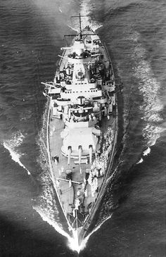 Admiral Graf Spee in the English Channel, Aug 1939, photo 1 of 2