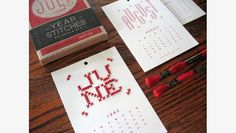 Simple DIY embroidery kits from Heather Lins Home: 2014 Martha Stewart American Made Winner